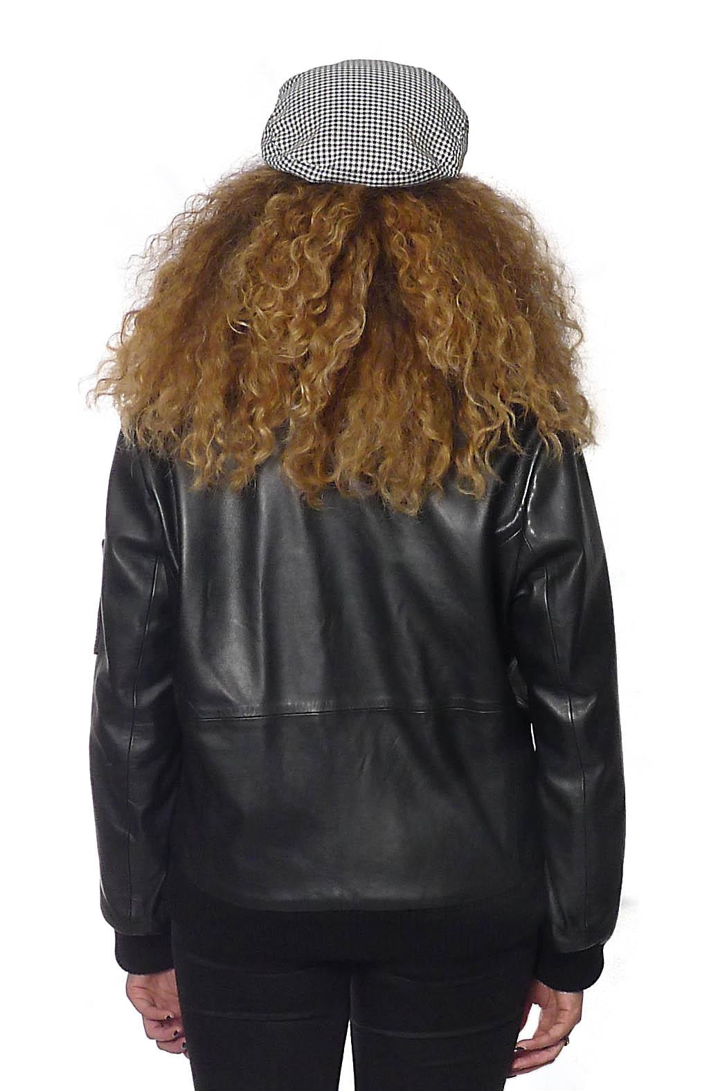 Gypsetters Jacket Leather Bomber - Side Cropped Image