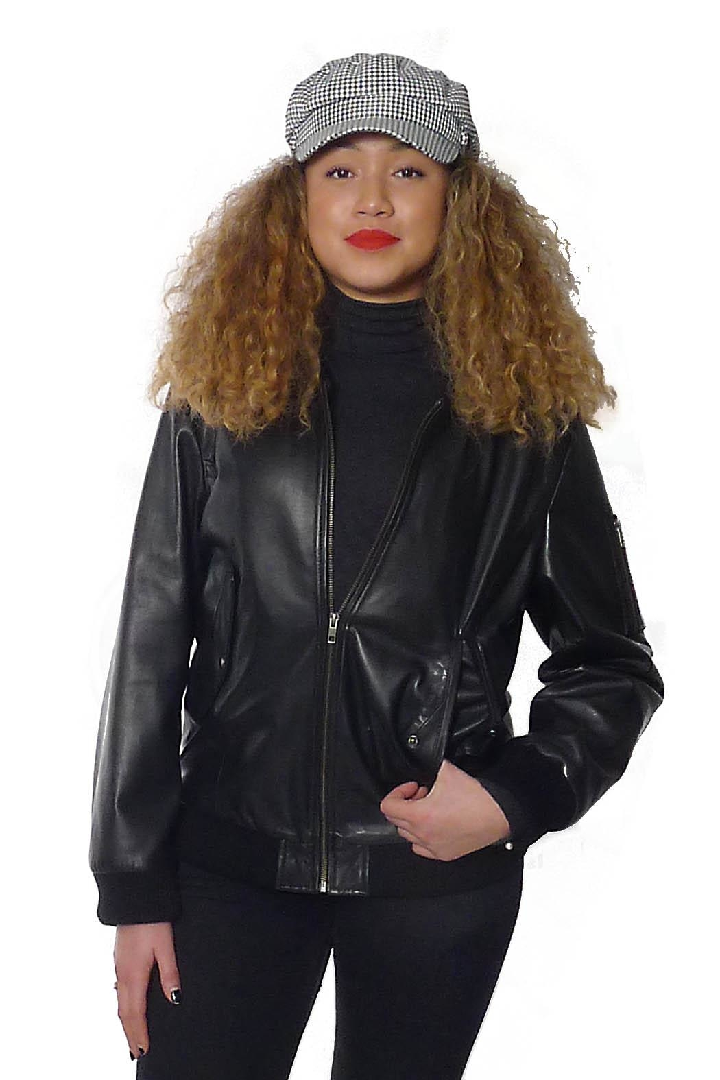 Gypsetters Jacket Leather Bomber - Front Full Image