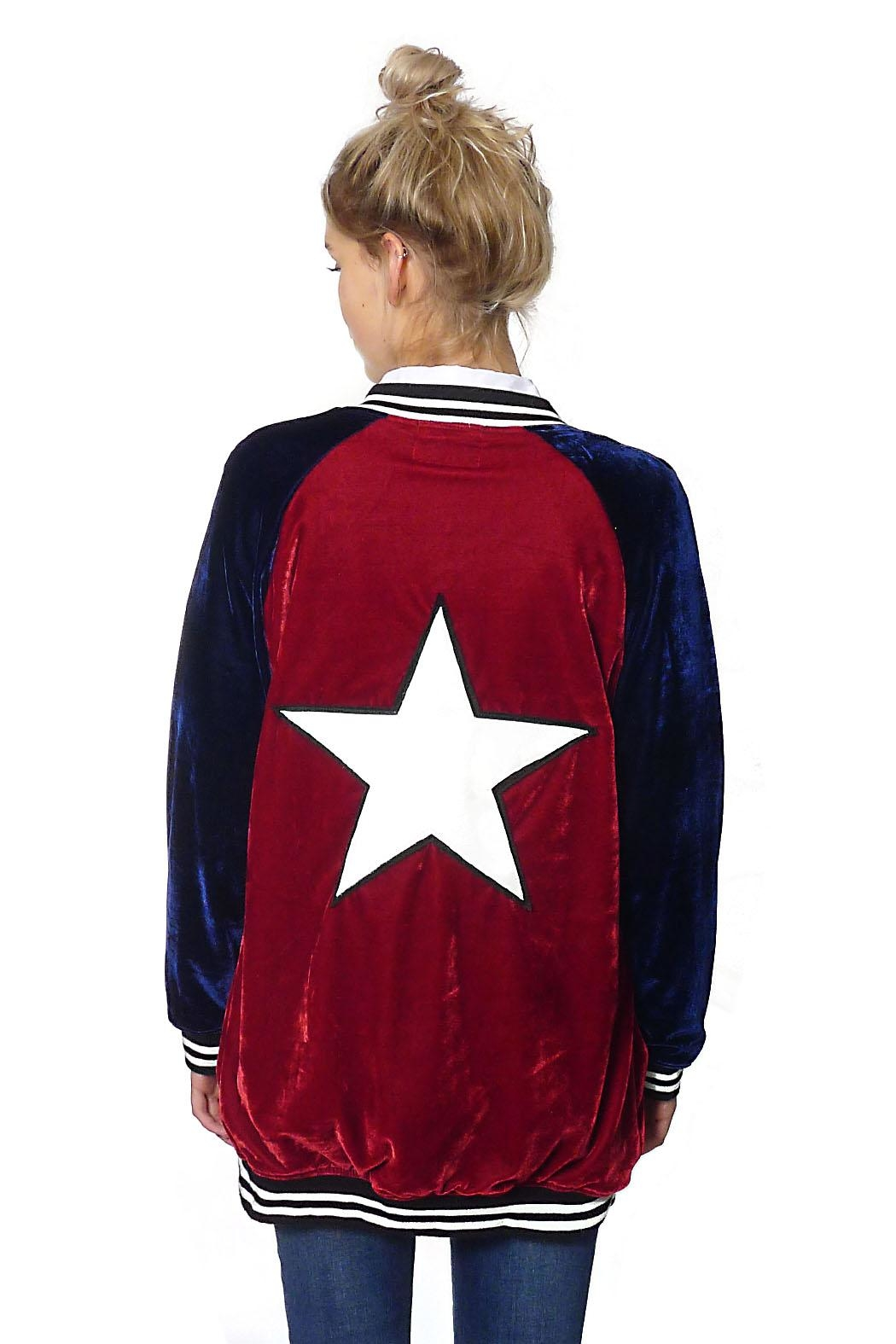 Gypsetters Jacket Velvet Star - Front Full Image
