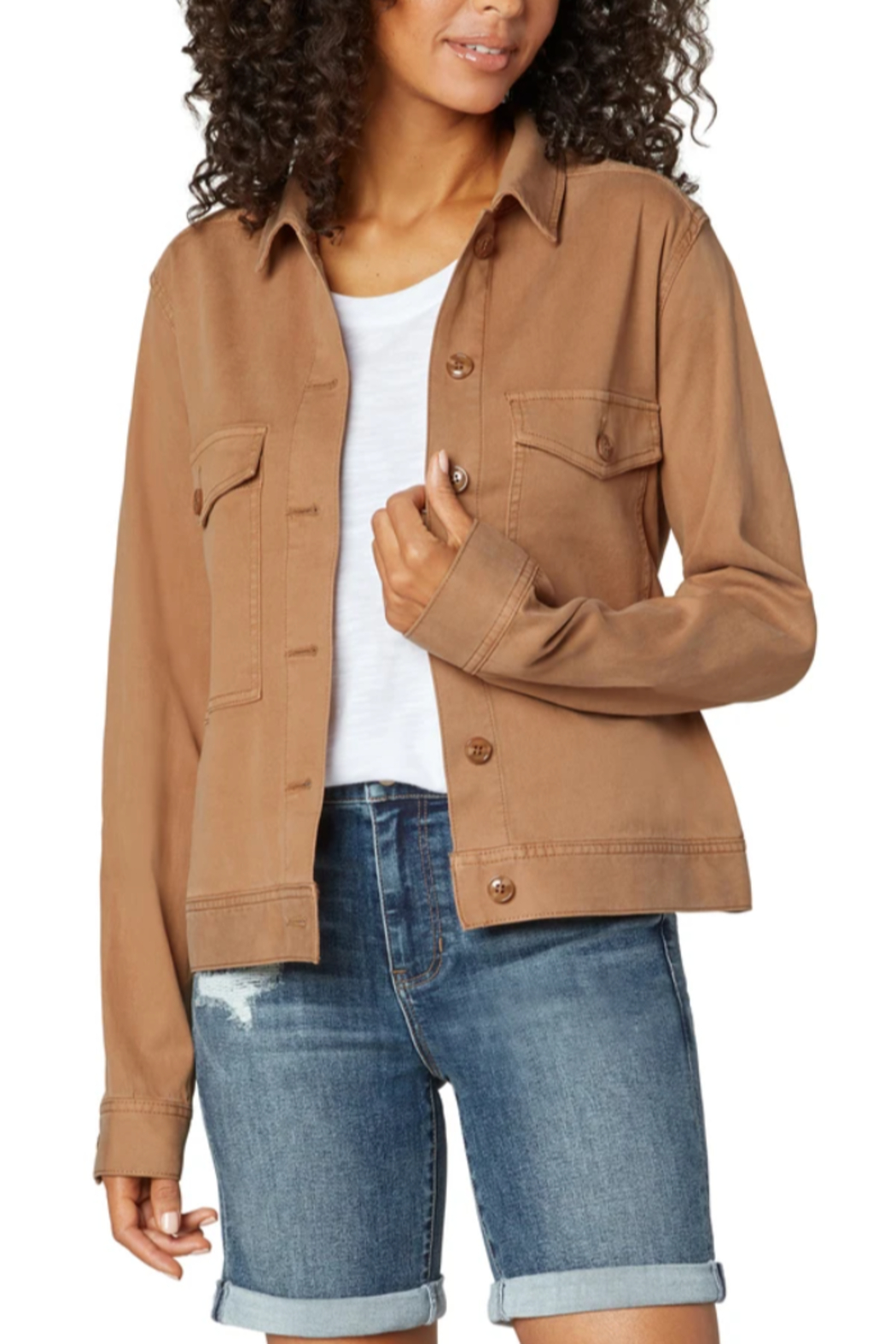 Liverpool  Jacket with Patch Pockets - Front Cropped Image