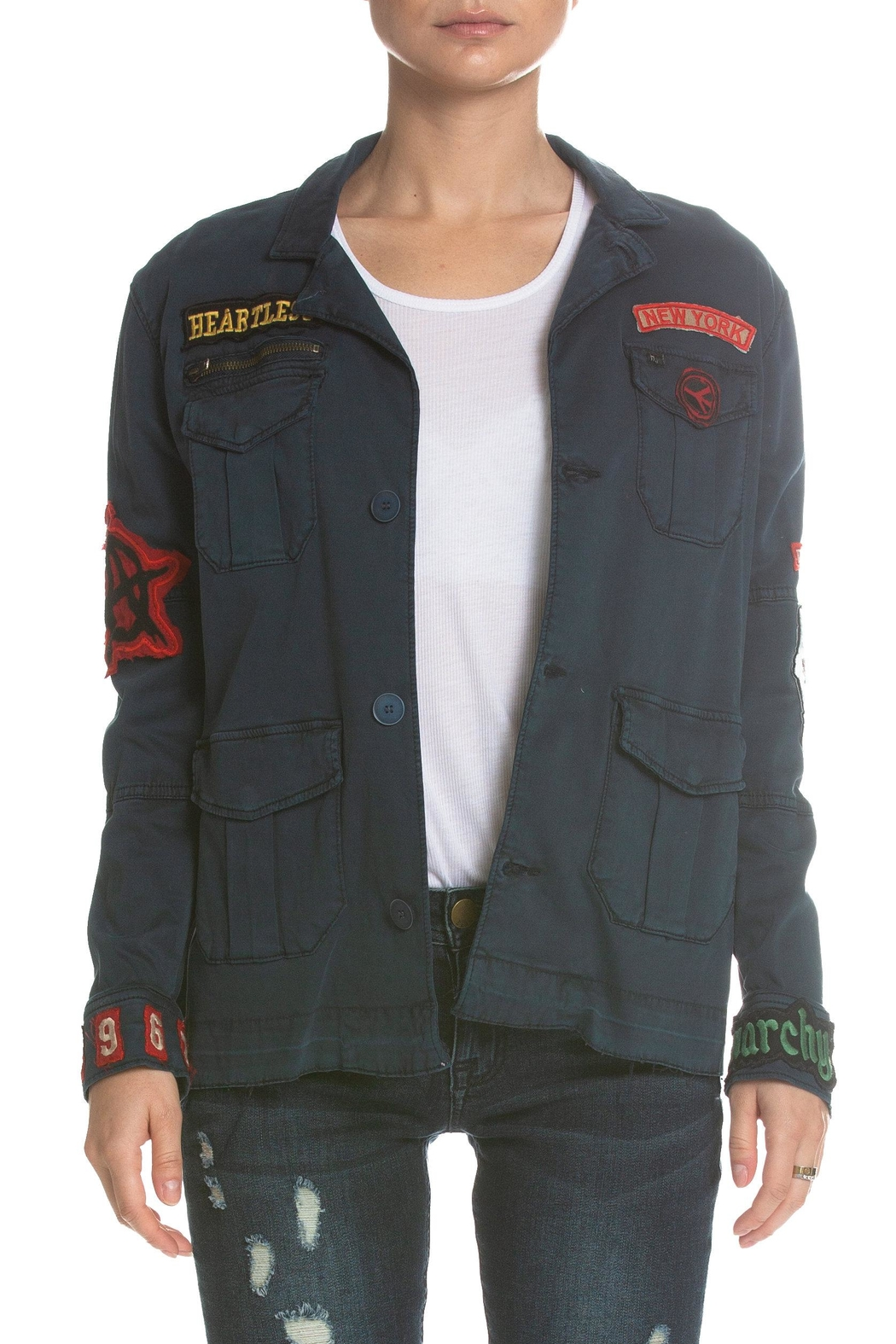 Elan Jacket With Patches - Front Cropped Image