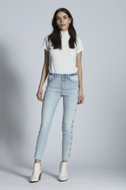 Driftwood Jackie High Rise Embroidered Jeans - Product Mini Image