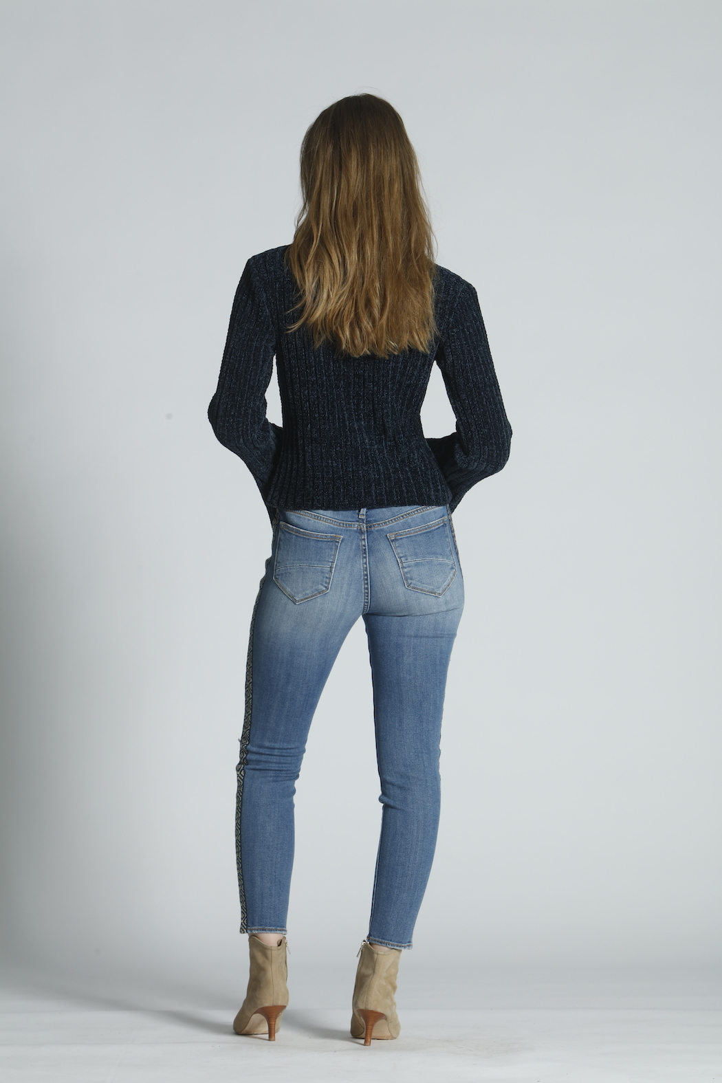 Driftwood Jackie High Rise Tetris Jeans - Side Cropped Image