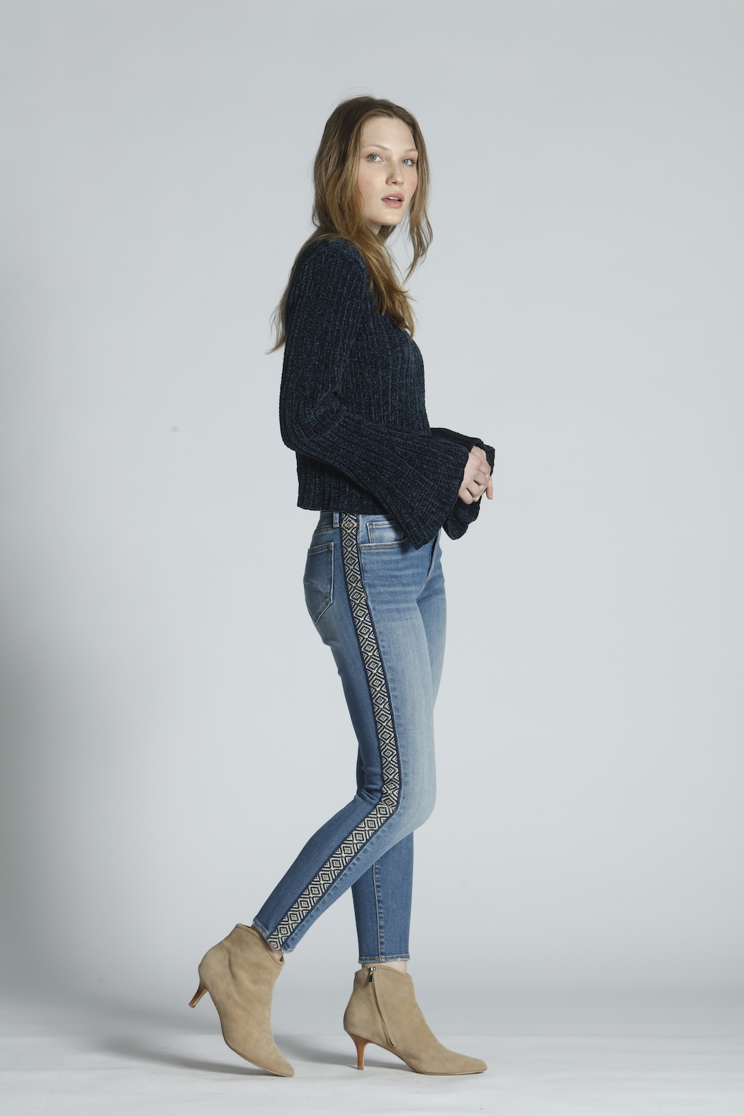 Driftwood Jackie High Rise Tetris Jeans - Main Image