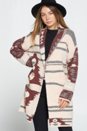 Davi & Dani Jackie Knitted Fleece Cardigan - Product Mini Image