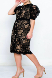 Strawberry & Cream Jackie Lace Dress - Front full body