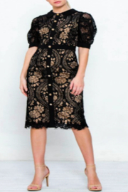 Strawberry & Cream Jackie Lace Dress - Front cropped