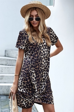 0-105 Jackie Leopard Dress - Alternate List Image