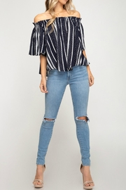 She + Sky Jackie Off-The-Shoulder Top - Product Mini Image