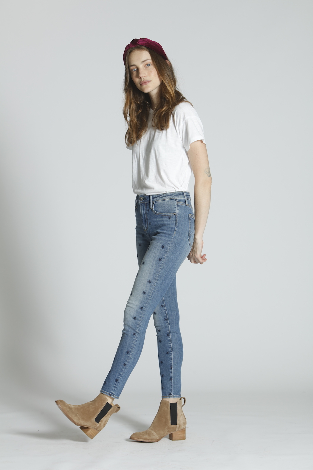 Driftwood Jackie Starry Night Embroidered Jeans - Front Full Image
