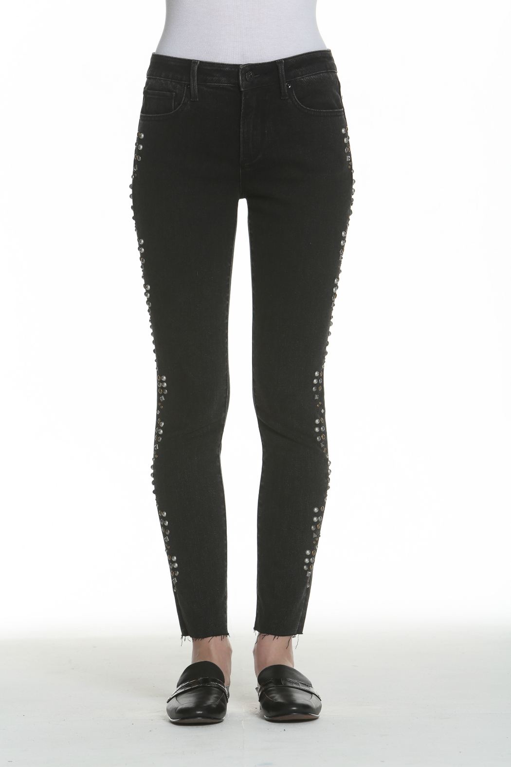 Driftwood Jackie Studded Black Jeans - Front Full Image