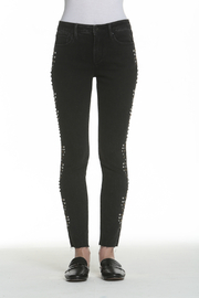 Driftwood Jackie Studded Black Jeans - Front full body