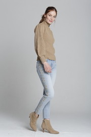 Driftwood Jackie X Blue Taupe Embroidered Jeans - Front cropped