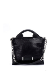 daniella lehavi Jackson Satchel With C/B Strap and Extra Leather/Silver Chain Handle - Front cropped