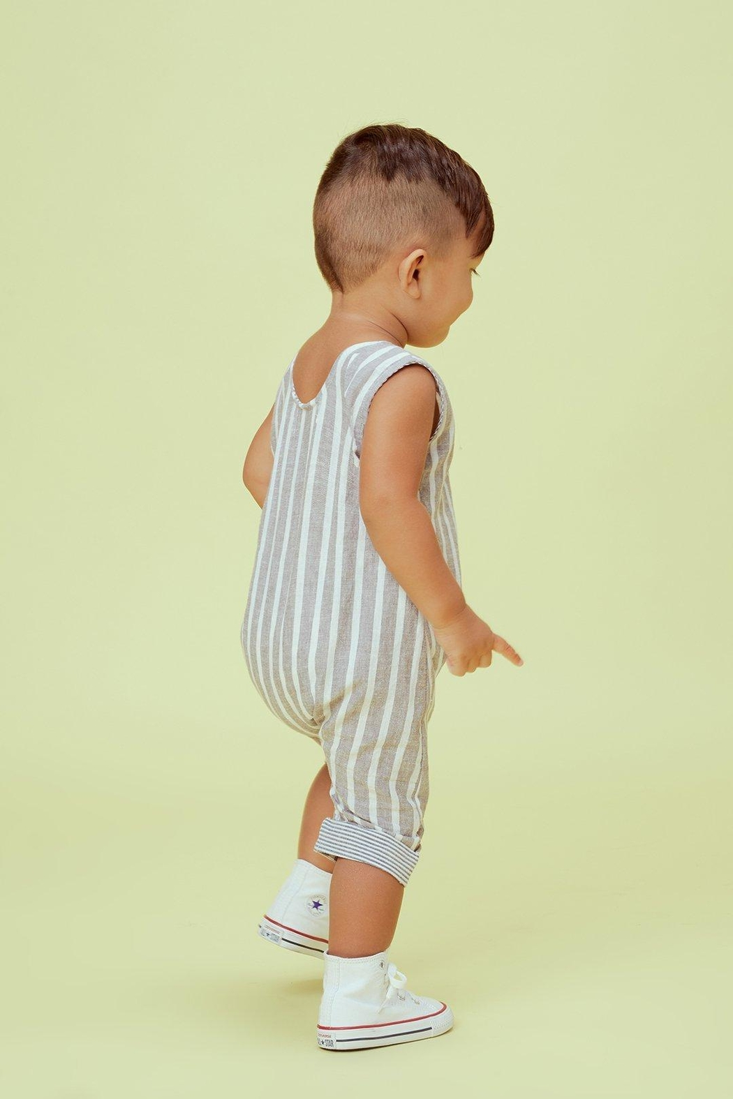 Lil Lemons Jackson Stripe Onesie - Side Cropped Image