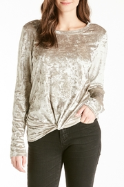 Another Love Jackson Velvet Knot Top - Front cropped