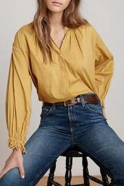 Velvet Jacoba Peasant Blouse - Front cropped