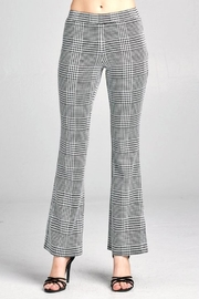 Active Basic Jacquard-Checked Flare Pants - Product Mini Image