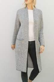 Mystree Jacquard Long Cardigan - Product Mini Image