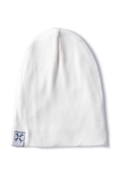 Jacqueline & Jac Natural White Ribbed Beanie - Product List Image