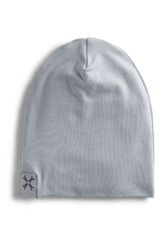Jacqueline & Jac Silver Ribbed Beanie For Newborn - Product List Image