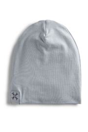 Jacqueline & Jac Silver Ribbed Beanie For Newborn - Product Mini Image