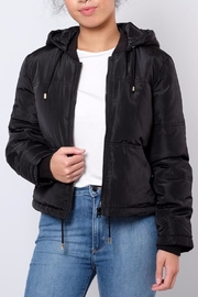 Jacqueline de Yong Cropped Hooded Puffer - Front cropped