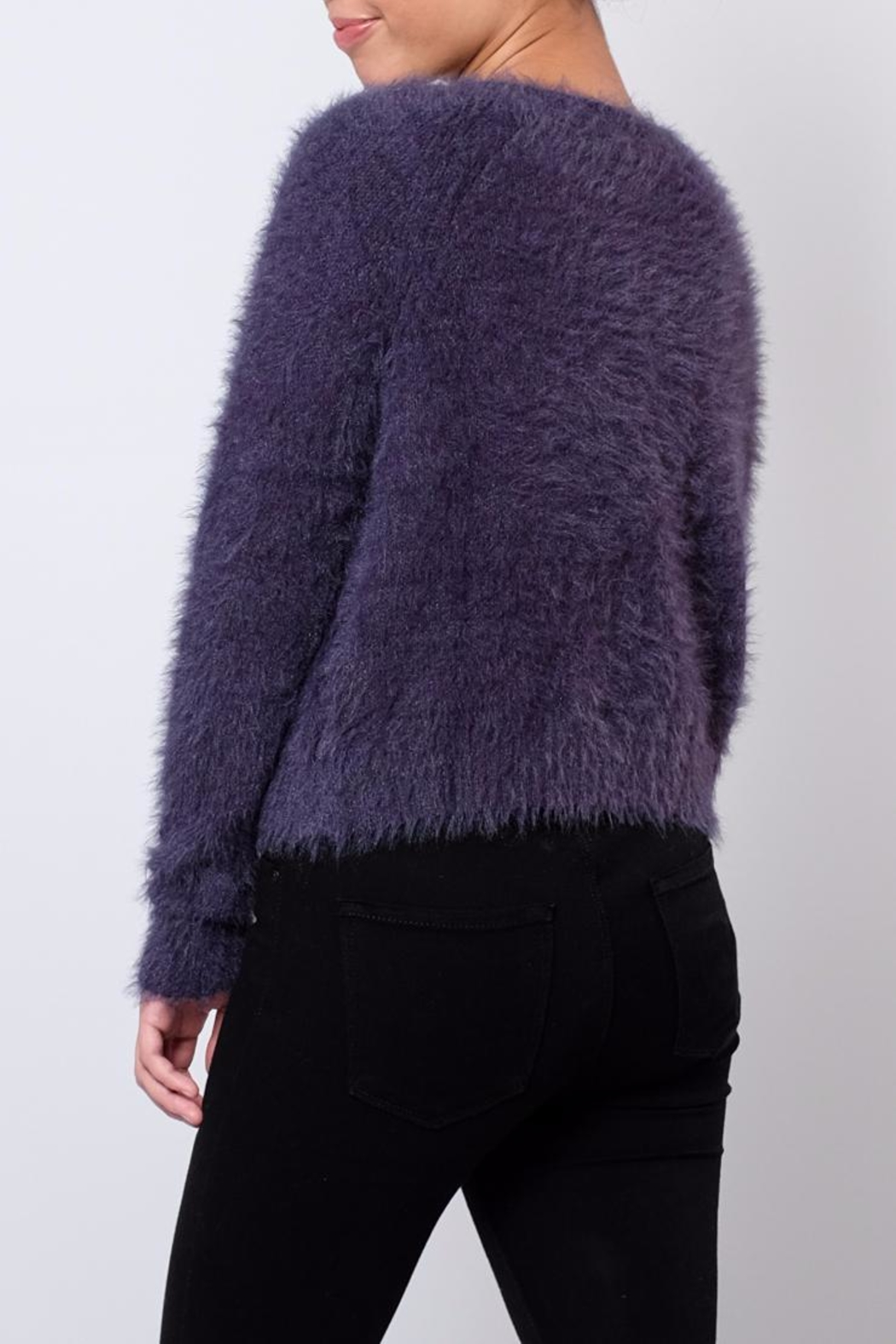 Jacqueline de Yong Fuzzy Cardigan - Side Cropped Image