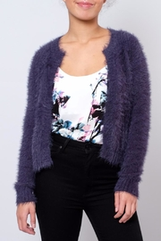 Jacqueline de Yong Fuzzy Cardigan - Front cropped