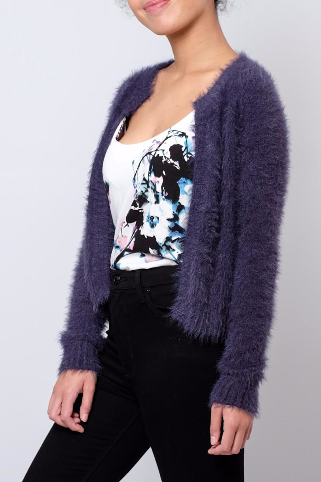 Jacqueline de Yong Fuzzy Cardigan - Front Full Image