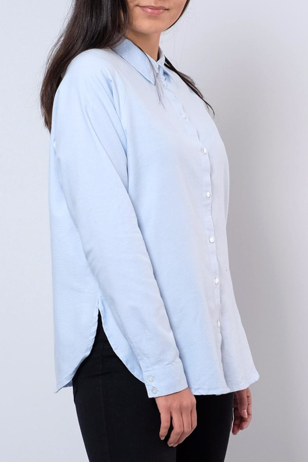 Jacqueline de Yong Relaxed Oxford Shirt - Front Full Image