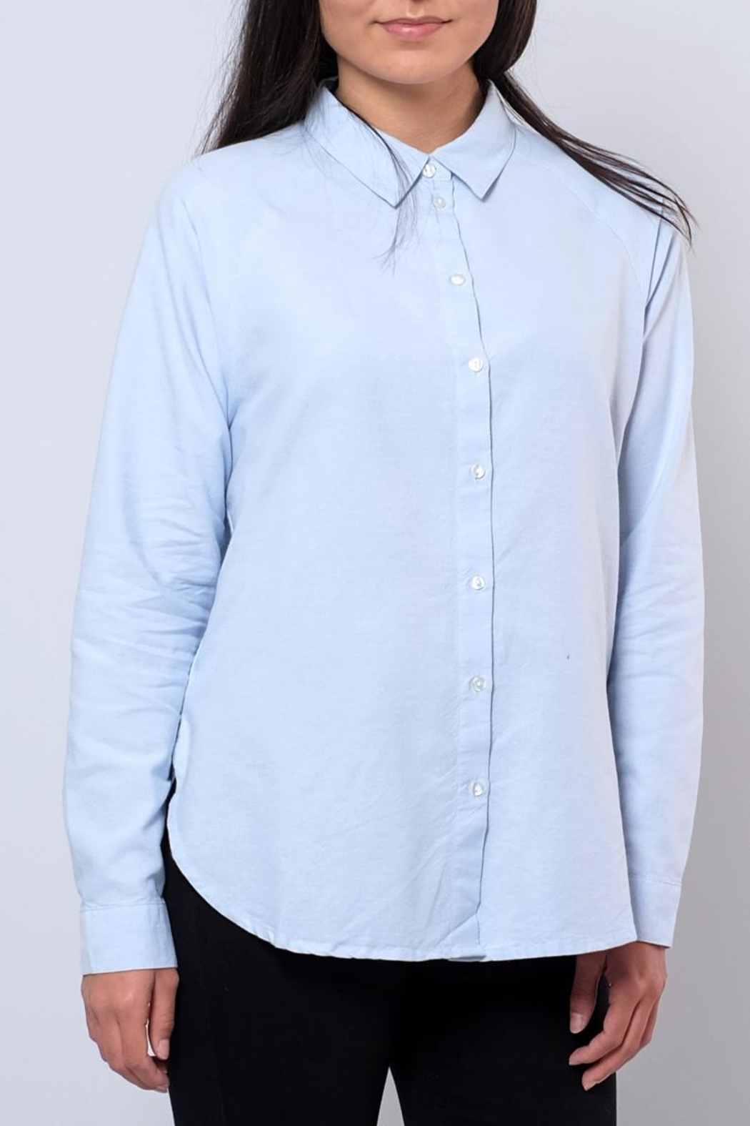 Jacqueline de Yong Relaxed Oxford Shirt - Front Cropped Image