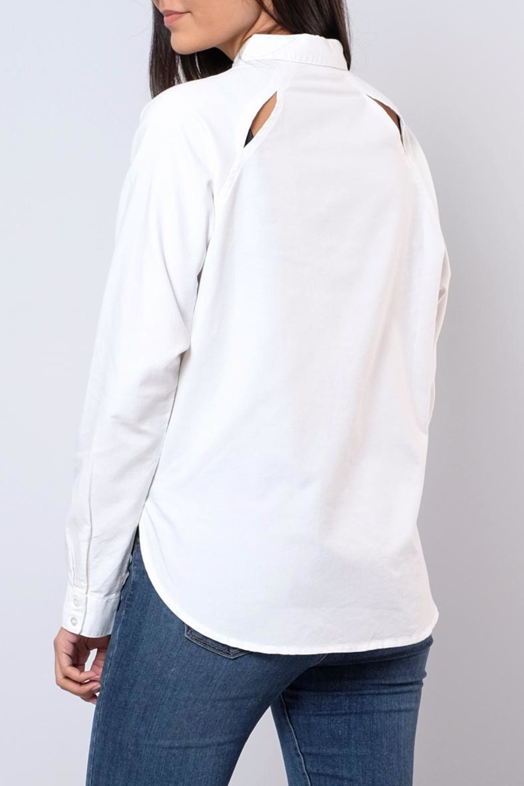 Jacqueline de Yong Relaxed Oxford Shirt - Back Cropped Image