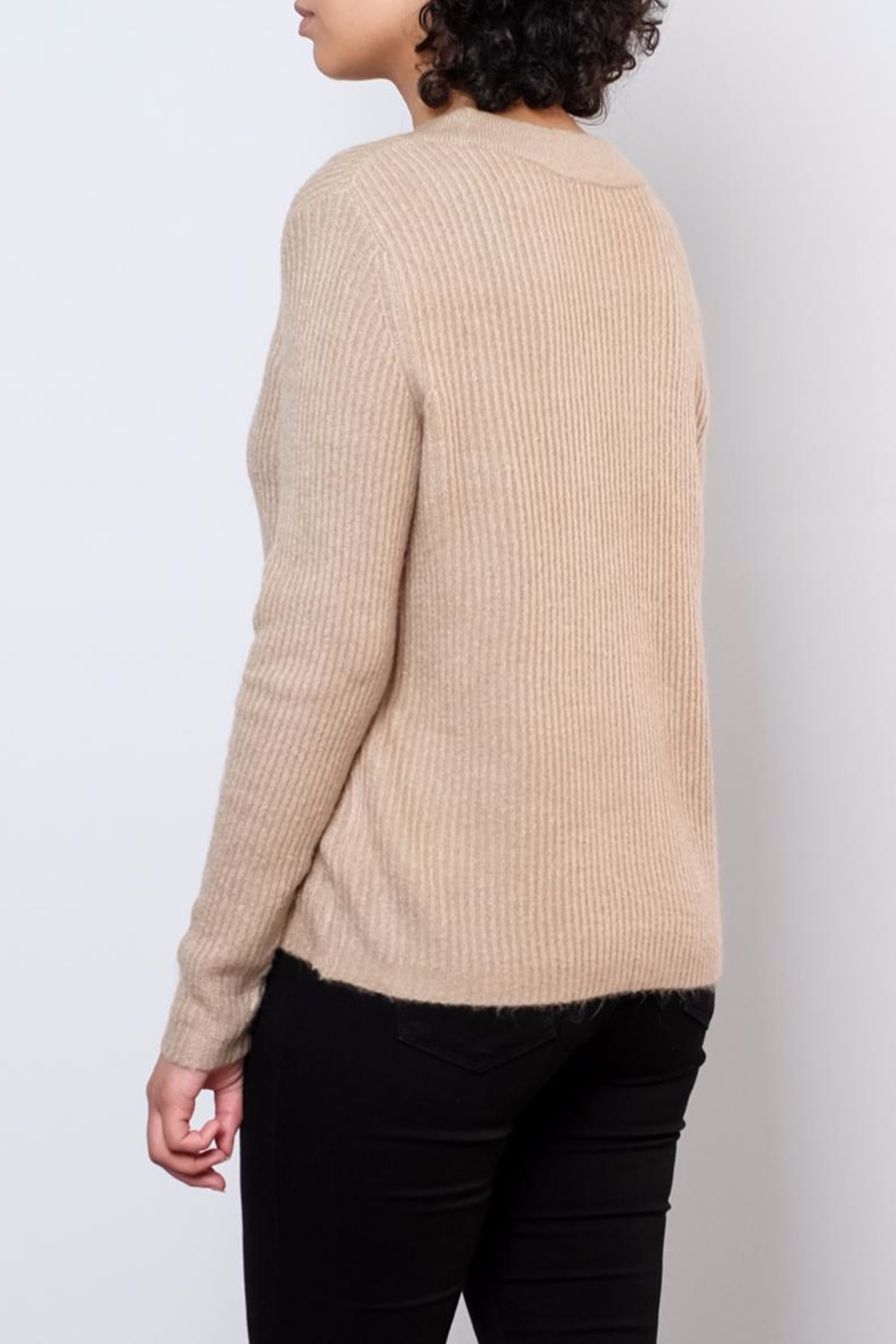 Jacqueline de Yong V Neck Pullover Top - Side Cropped Image