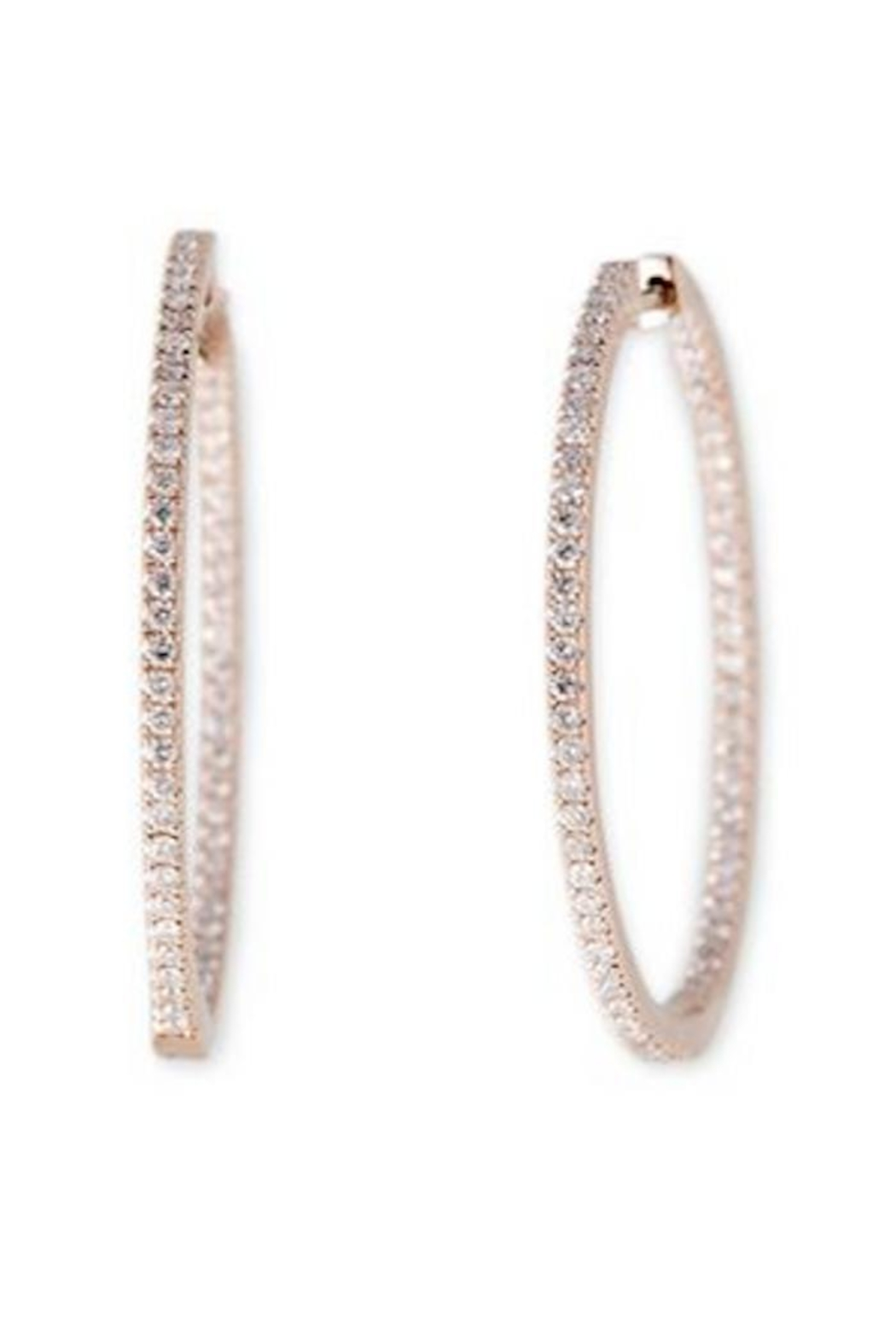 Jacquie Aiche Pave Insideout Hoops - Main Image
