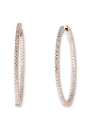 Jacquie Aiche Pave Insideout Hoops - Front cropped