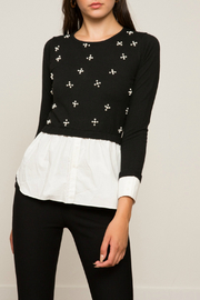 Lucy Paris Jade Beaded Sweater - Product Mini Image