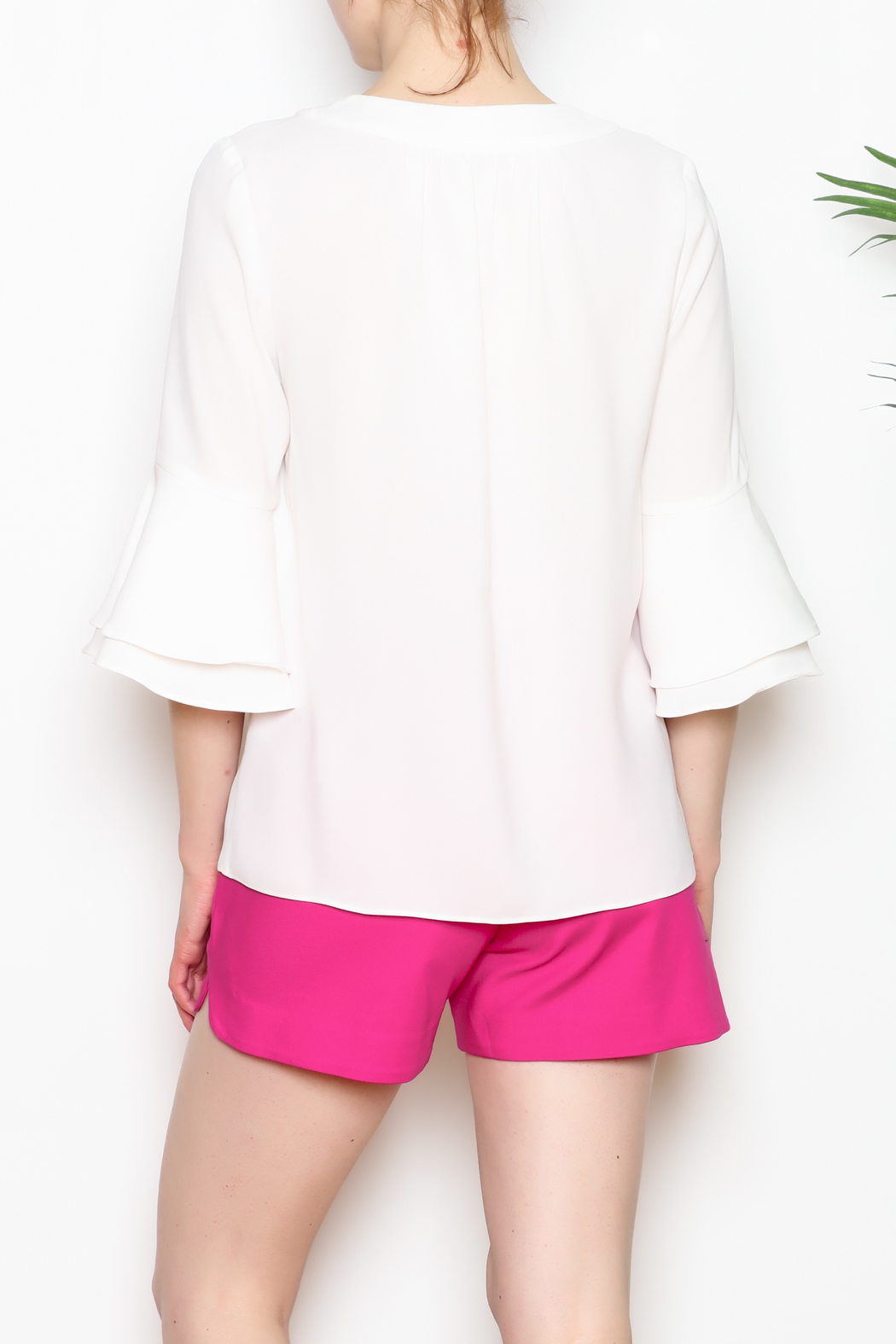 Jade Bell Sleeve Top - Back Cropped Image