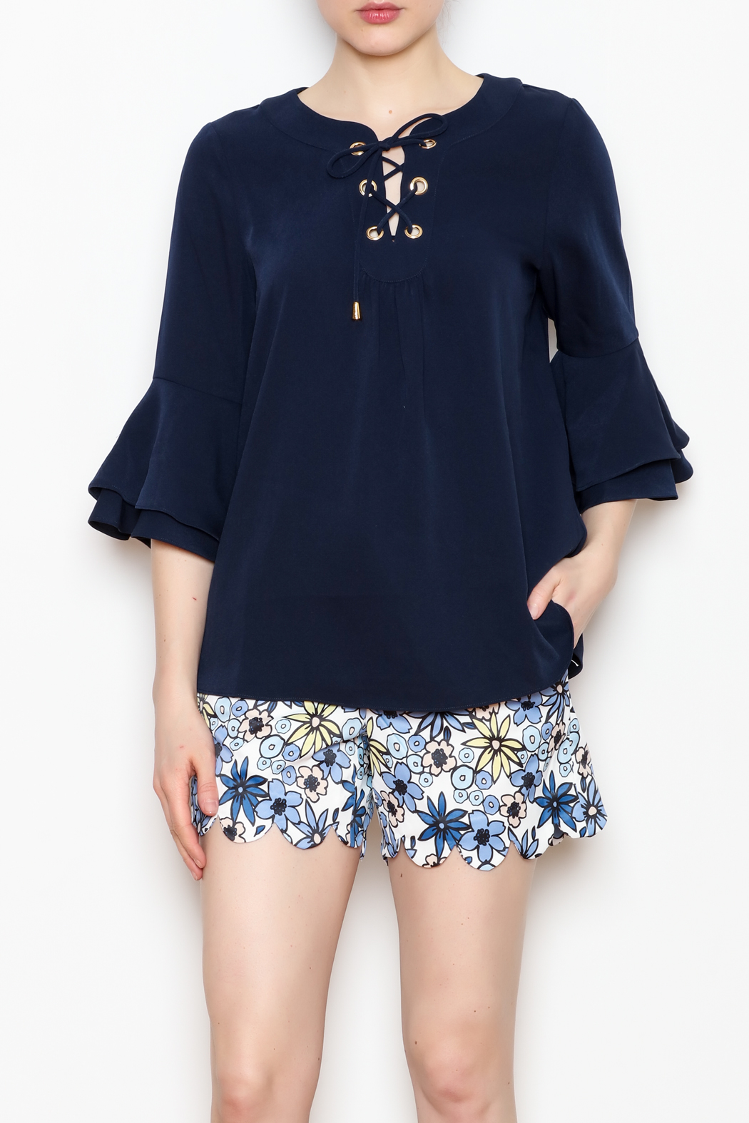 Jade Bell Sleeve Top - Front Full Image