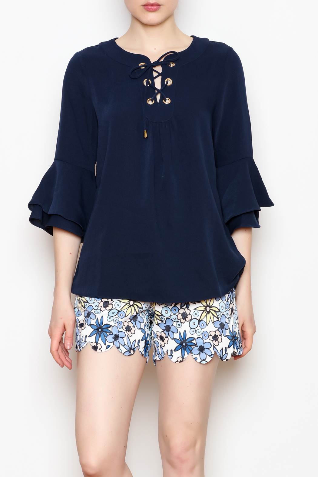 Jade Bell Sleeve Top - Front Cropped Image