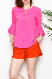 Jade Bell Sleeve Top - Front cropped