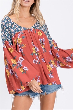 Jade Boho Autumn Top - Product List Image