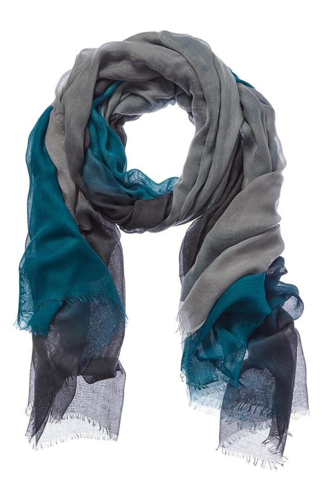 Blue Pacific Jade Dream Scarf - Front Cropped Image