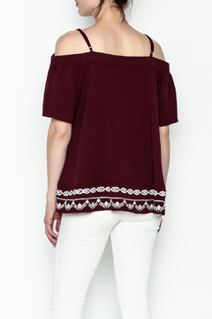 Jade Embroidered Cold Shoulder Top - Alternate List Image