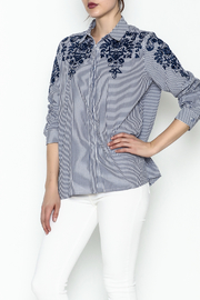 Jade Embroidered Shirt - Front cropped