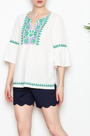 Jade Embroidered Top - Product Mini Image