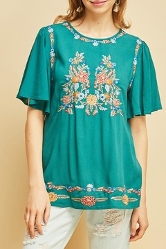 Shoptiques Product: Jade Embroidery Top