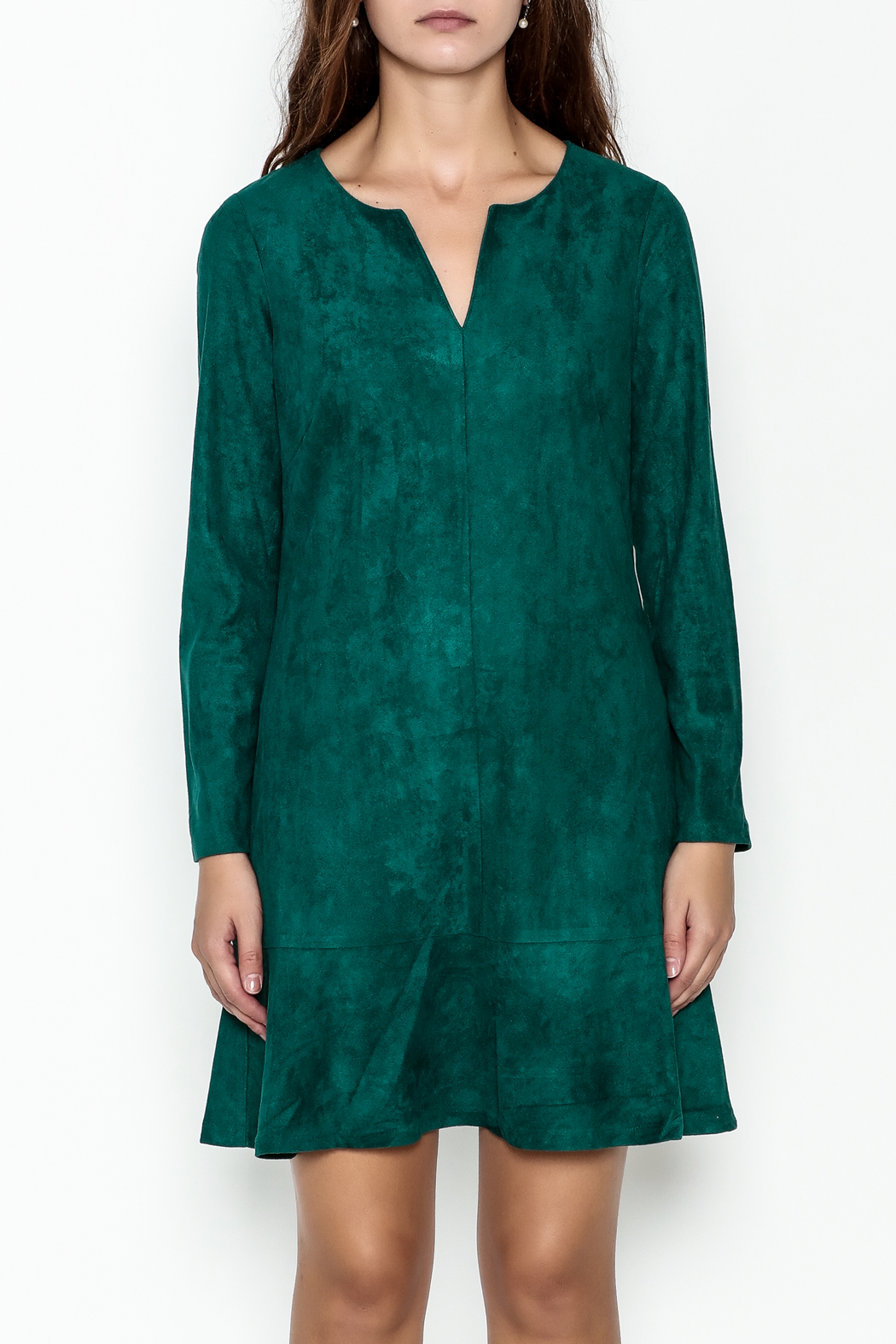 Jade Faux Suede Dress - Front Full Image
