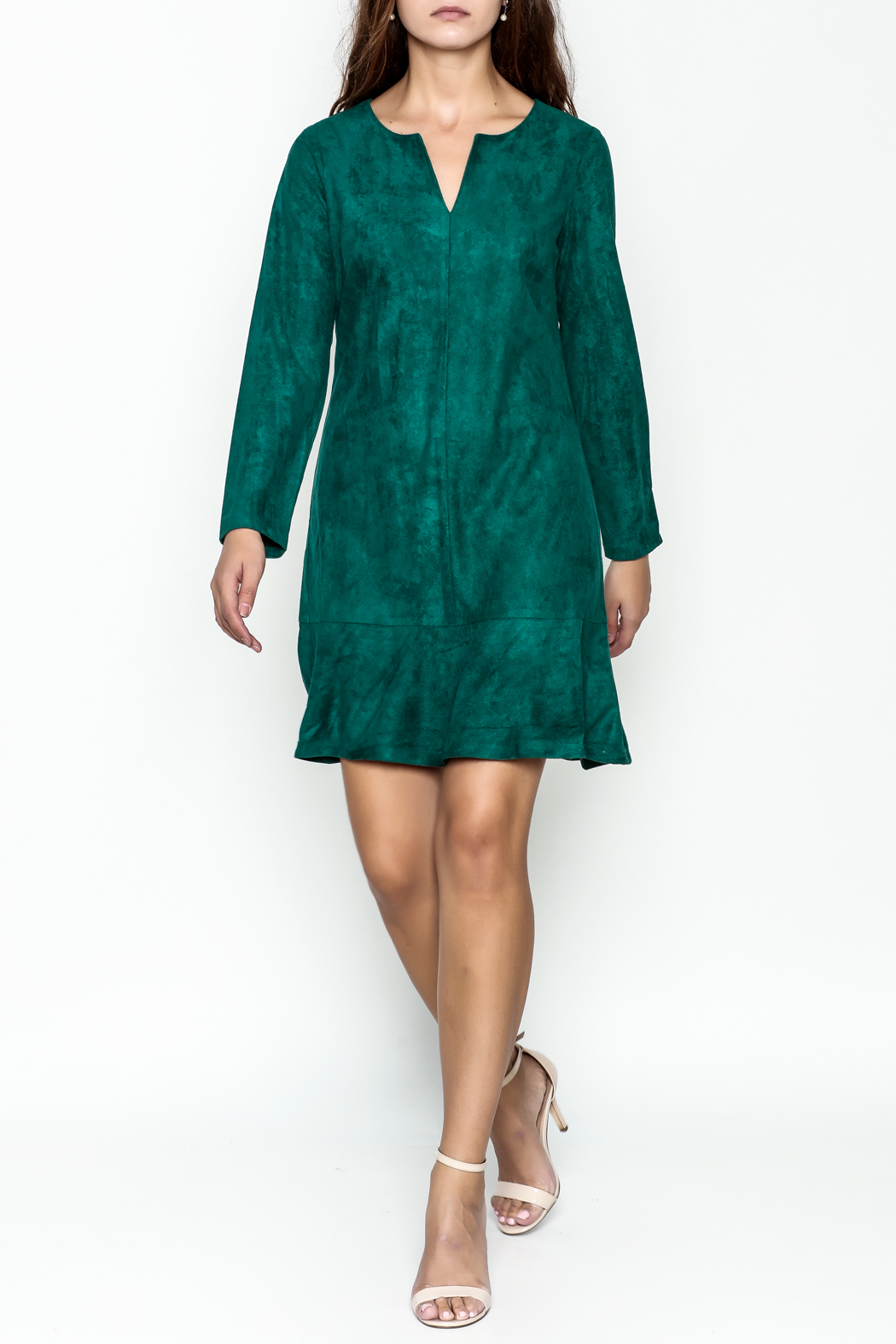 Jade Faux Suede Dress - Side Cropped Image