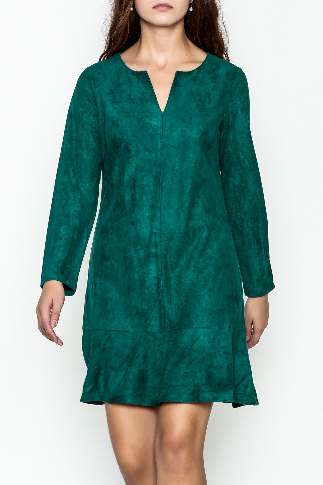 Jade Faux Suede Dress - Main Image